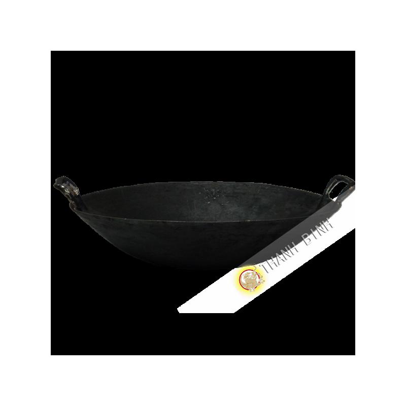 Po le wok en fonte 40cm for Poele de cuisine en fonte