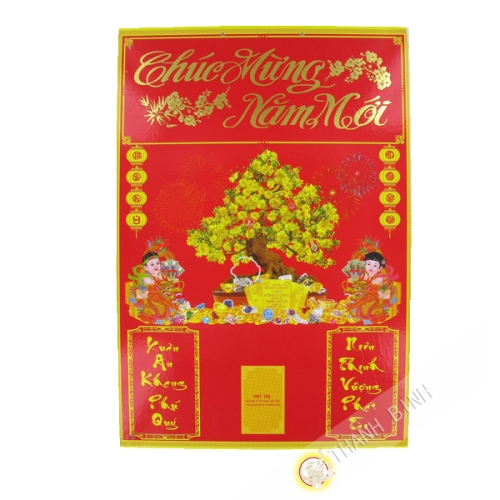 Carton Calendrier Bloc PM 34x50cm