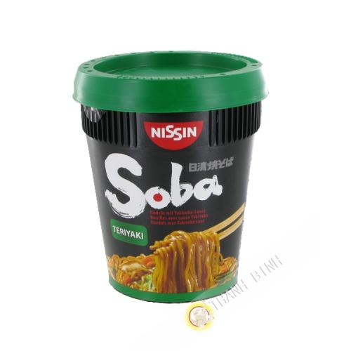 Nouilles Soba Terriyaki avec sauce yakisoba NISSIN 90g