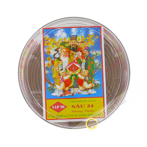 Encens ronde parfum' 13cm Vietnam