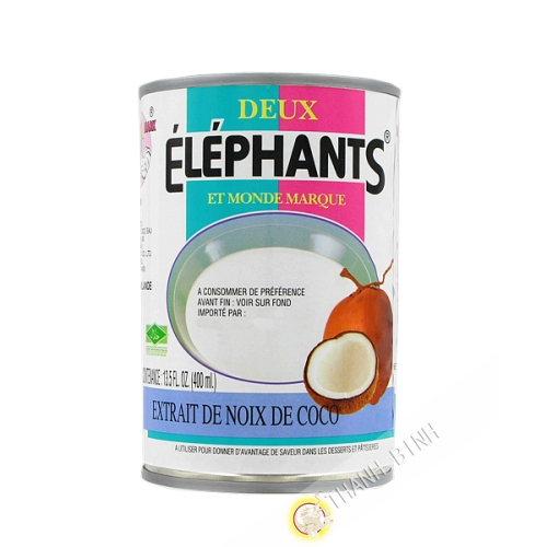 Lait de coco ELEPHANTS 400ml Thailande