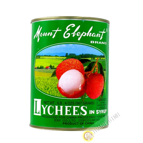 Litchis sirop Mount Elephant 567g - Chine