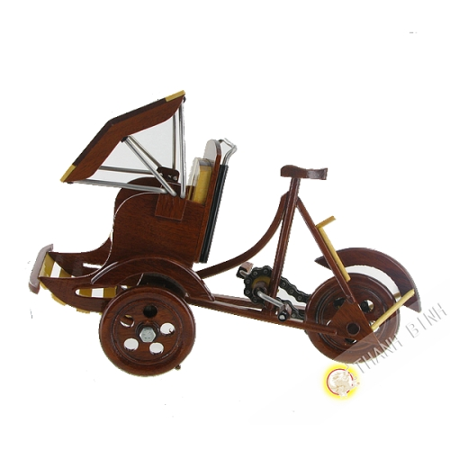 Cyclo en bois 15x22cm Vietnam