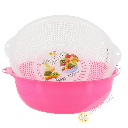 Passoire + bassin en plastique 28cm Vietnam
