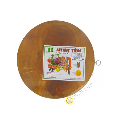 Planche à découper en bois ronde 24, 26, 28cm Minh Tam