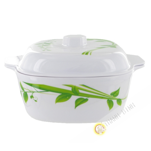 Bowl and lid edge plastic 19cm