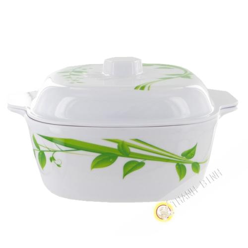 Bowl and lid edge plastic 19cm Vietnam