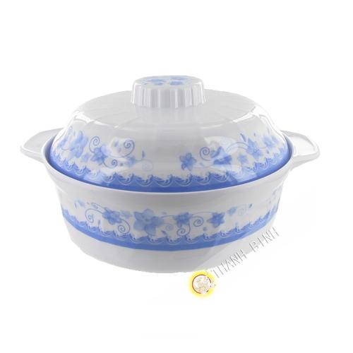 Bowl and lid round-plastic-18,5-25,5 cm Vietnam