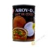 Lait de coco pour la cuisine  AROY-D 400ml Thailande
