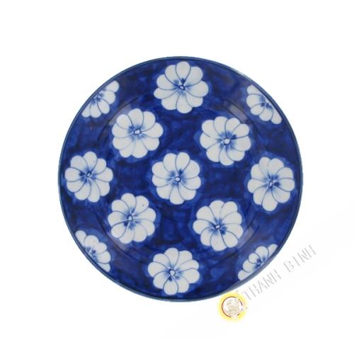 Assiette Fleur Mai en porcelaine