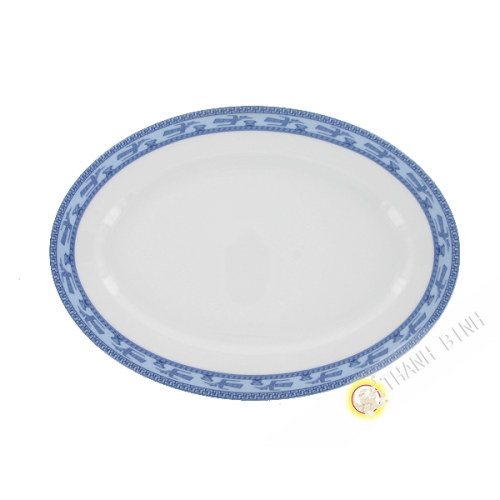 Assiette ovale en porcelaine Minh Long