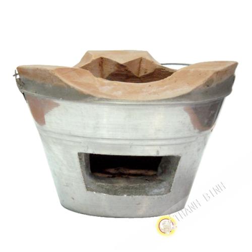 El hogar de la cocina de carbón