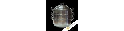 Steam pot 2-storey aluminium PSP 24-28-30cm Thailand