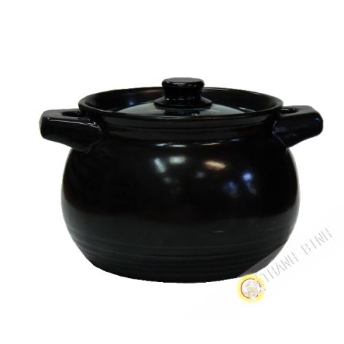 Marmite à fondu noire en terre 3L Chine