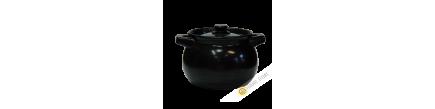 Pot in molten black earth 3W China