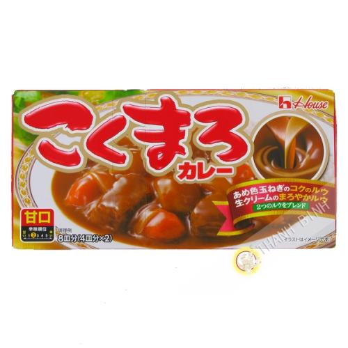 La tableta de curry Kokumaro dulce Amakuchi CASA de 140 g de Japón