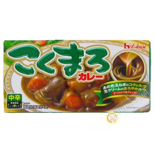 Tablette curry Kokumaro medium chukara HOUSE 140g Japon