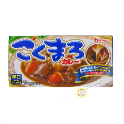 Tablette curry Kokumaro épicé karakuchi HOUSE140g Japon