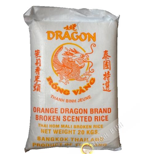 Riz parfumé cassé 2 fois DRAGON OR 20kg Thailande