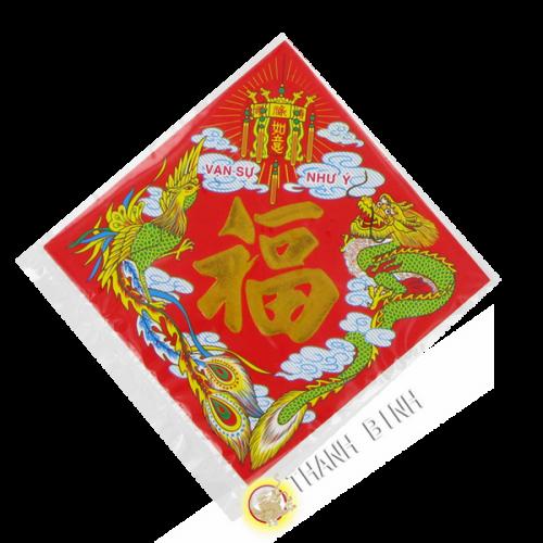 Etiqueta de la Felicidad Año Nuevo 12x12cm 40 hojas