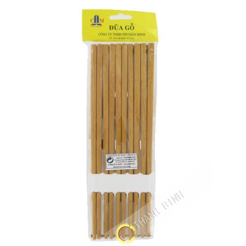 Baguettes en bois 5 paires 25cm Chan Minh