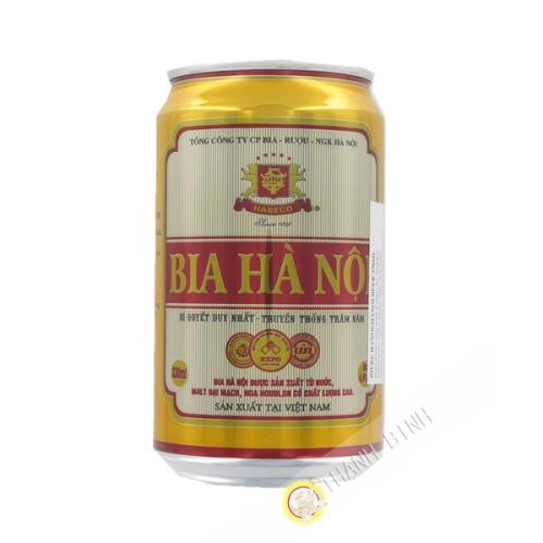 啤酒河内筒管HABECO330毫升越南