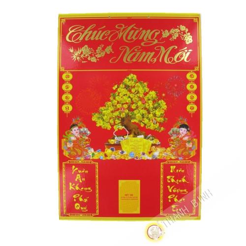 Cartón Calendario Bloque PM 34x50cm