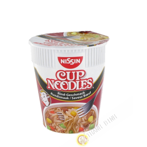 Soupe noddles boeuf cup NISSIN 64g