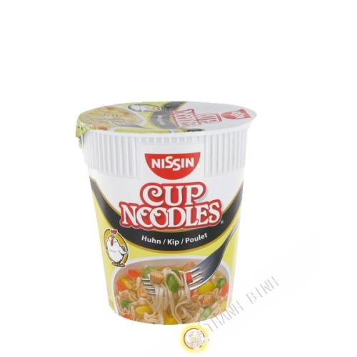 Sopa de fideos de pollo taza de NISSIN 63g