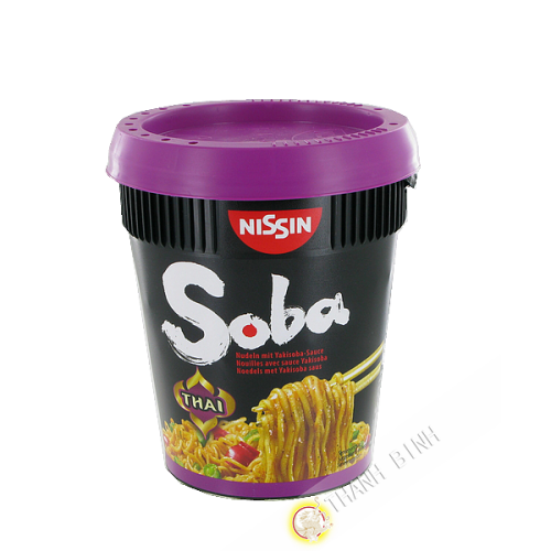 Con fideos yakisoba Sabor de la salsa Tailandesa NISSIN 88g