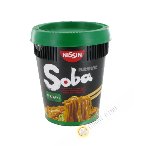 Fideos Soba con Terriyaki salsa yakisoba NISSIN 90g