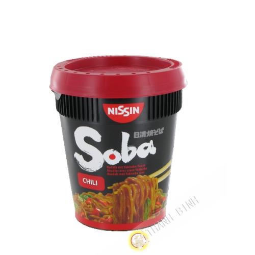 Soba-nudeln Hot Chilli mit soße, NISSIN yakisoba 92g