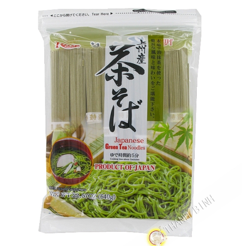 Tagliatelle di tè verde essiccata Chasoba HIME 640g Giappone