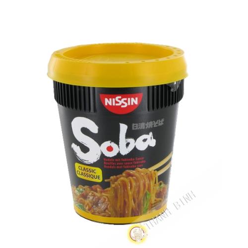 Fideos Soba con la clásica salsa yakisoba NISSIN 92g