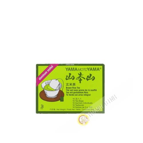 Thé vert grains de riz souflé en sachet YAMAMOTOYAMA 48g