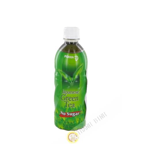 Beber té verde japonés sin azúcar POKKA 500ml