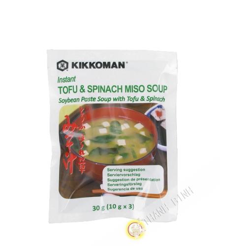 Zuppa di Miso con tofu & spinaci immediata KIKKOMAN 30g Giappone