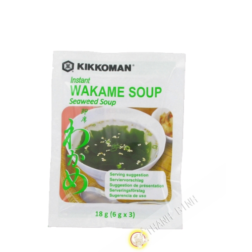 Sopa de alga Wakame instante KIKKOMAN 18g Japón