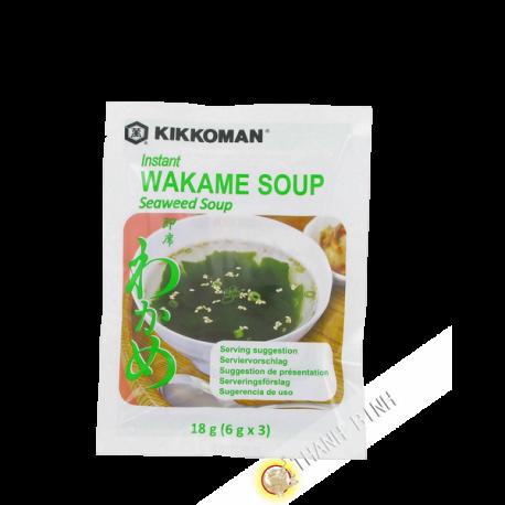 Soupe Wakame instantanée KIKKOMAN 18g Japon
