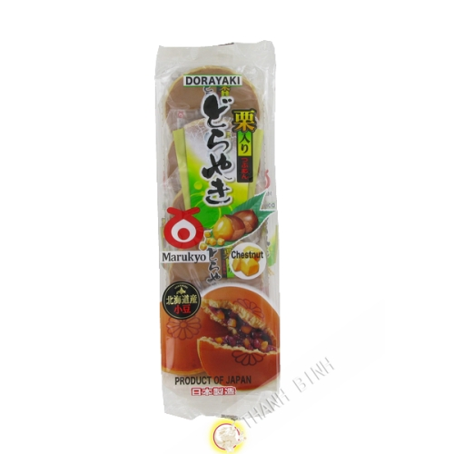 Torta di fagioli rossi e castagne Kuriiri Dorayake 5pcs MARUKYO 300g Giappone
