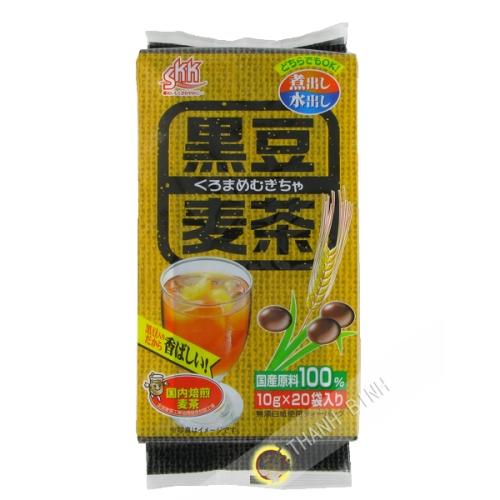 El té de cebada y negro de soja Kokusan kuromameri mugicha SANEI 200g de Japón