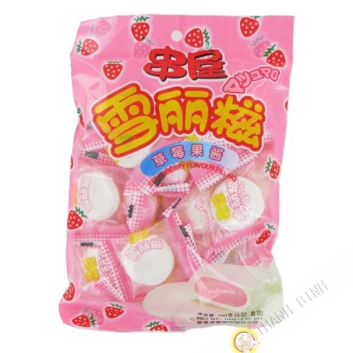 Marshmallow-erdbeer 100g