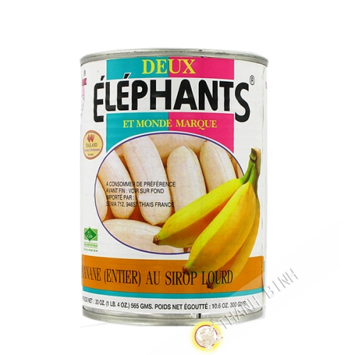 Banana whole in syrup heavy ELEPHANTS 565g Thailand