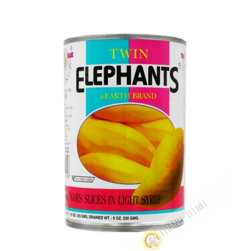Mango in light syrup ELEPHANTS 425g Thailand