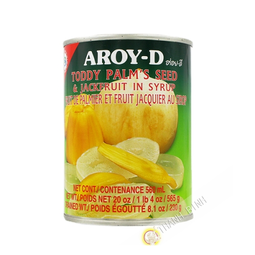 Mix fruit, jackfruit and fruit palm in syrup AROY-D 565g Thailand