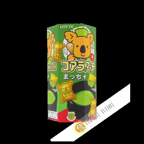 Biscuit Koala matcha LOTTE 37g Thailande
