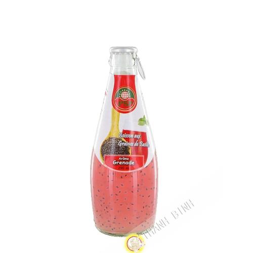 Beber en las semillas de albahaca granada 290ml Tailandia