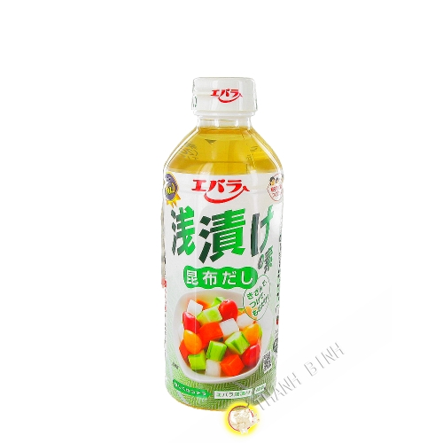 Seasoning vegetables Asazuke konbudashi EBARA 500ml Japan