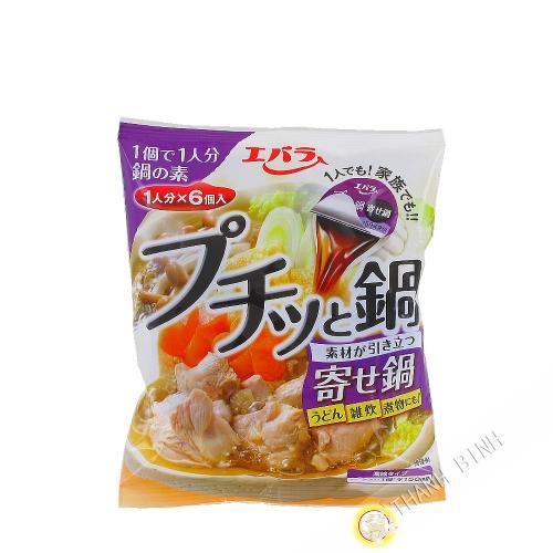 Dosette bouillon Puchittanobe yosenabe EBARA 138g Japon