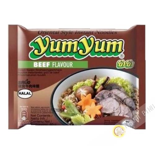 Fideos instantanee Yum yum de la carne de vacuno 60g